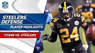 Pittsburgh's Defense Gets 5 Sacks, 4 INTs, & 1 Blocked Kick | Titans vs. Steelers | Wk 11 Player HLs