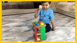 Fun Hammering and ball Pounding Toy | Learn colors and Shapes | Melissa and Doug Pound and Roll