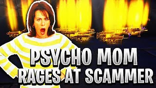 Psycho Mom Rages At Scammer! *MUST WATCH* (Scammer Gets Scammed) Fortnite Save The World