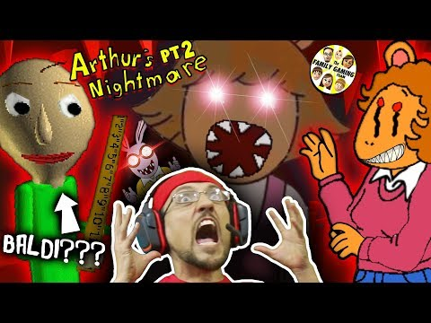 ESCAPE the Crazy Cartoon Family + BALDI Teacher in my House? (FGTEEV Arthurs Game Part 2 Night 3 &4)