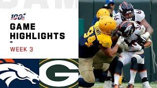 Broncos vs. Packers Week 3 Highlights | NFL 2019