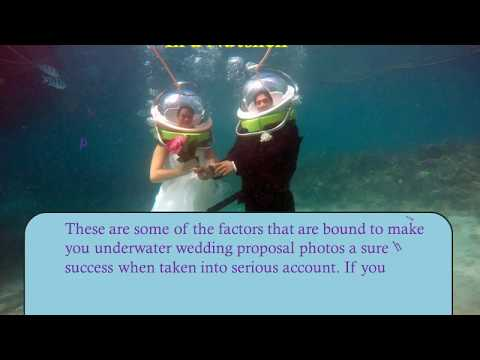 6 Useful Facts About Underwater Wedding Proposal Photos!