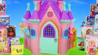 عرائس باربي - ألعاب  سيارة فان Princess Toy Dolls: Rapunzel, Frozen Elsa, Cinderella