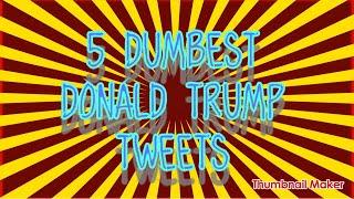 5 Dumbest Donald Trump Tweets