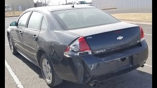Before and After - $1650 2012 Copart Chevy Impala