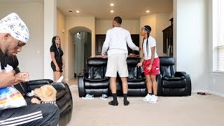 """""""MY EX USE TO DO THAT"""" IN FRONT OF COMPANY PRANK!!! FT. AR'MON AND TREY"""