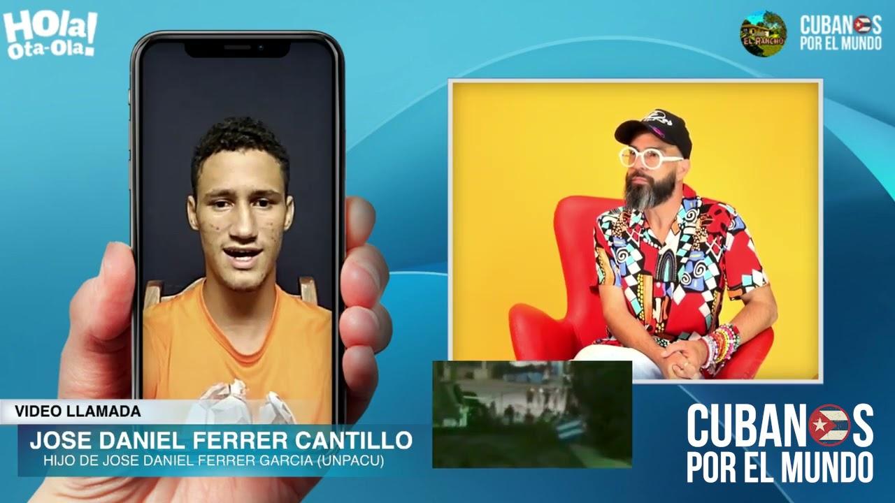 Hijo del líder opositor cubano Ferrer cuenta a Otaola la situación de huelga de hambre en la UNPACU
