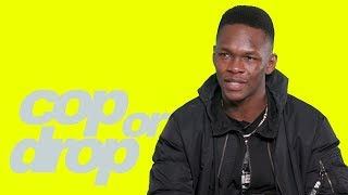 UFC Champ Israel Adesanya Reacts to $3K Cheeto, Toe Slippers & Kanye 'Jesus is King' | Cop or Drop