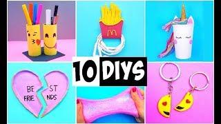 MAKING 10 AMAZING DIY BFF Gift Ideas, School Supplies, Room Decor & Organization COMPILATION!