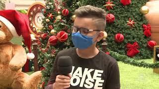 Papai Noel começa a receber as crianças respeitando todas as medidas   Jornal da Cidade