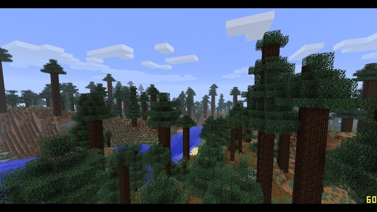 Minecraft 1 7 Snapshot Mega Taiga Redwood Forest Youtube