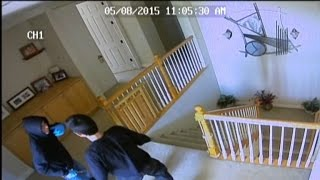 Caught On Tape: Watch Two Clueless Robbers Break Into Home with People Inside