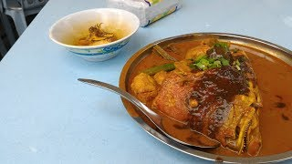 KL street food. Fish Head Curry NATIONAL MONUMENT KL 2017