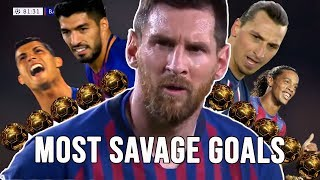LIONEL MESSI | Top 17 Most Savage Champions League Goals |