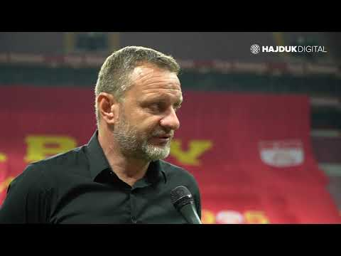 Head Coach Hari Vukas after game Galatasaray - Hajduk 2:0