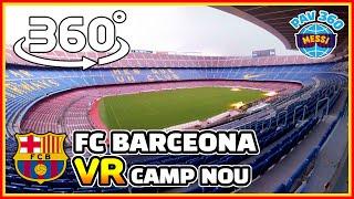 FC Barcelona CAMP NOU VR Tour: Must Visit Bucket List in Spain [El Clasico messi] (360 vr tourism)