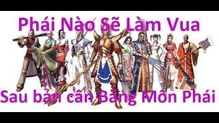 Võ Lâm Truyền Kỳ - Môn phái sẽ làm Vua trong bản Update cân bằng môn