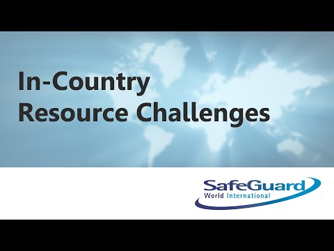In-Country Resource Challenges