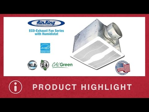 Air King ECO Exhaust Fan Series