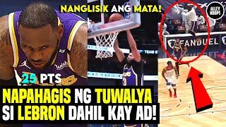 Lebron NAPAHAGIS ng TUWALYA sa Dunk ni AD! Bulldozer Mode 25 Pts! Lakers vs Warriors sa Play-In!
