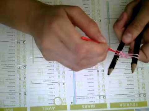 comment faire un bracelet elastique sans machine avec 2 crayon facile youtube. Black Bedroom Furniture Sets. Home Design Ideas