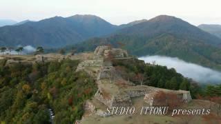 天空の城 竹田城趾をモーターパラグライダーで空撮 by ittokusanfly on YouTube