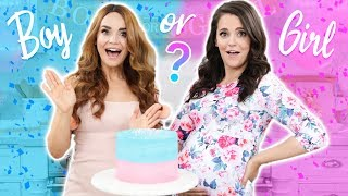 BABY GENDER REVEAL!! Gender Reveal Cake w/ my Sister!