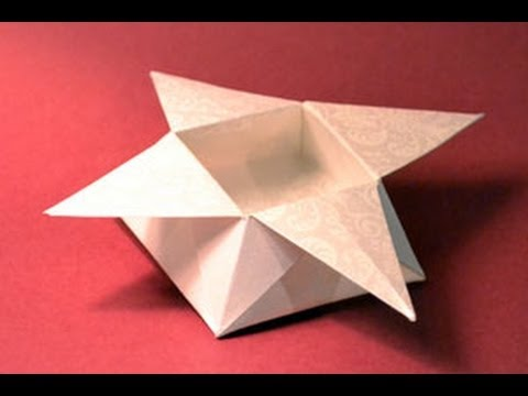Origami Star Box Instructions: www.Origami-Fun.com - YouTube - photo#17