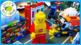 LEGO CITY WITH TRUCKS POLICE AND CONSTRUCTION VEHICLES!