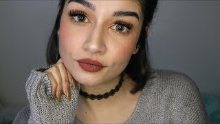 ASMR Doing My Makeup | Close Up Whispers, Tongue Clicking, Tapping