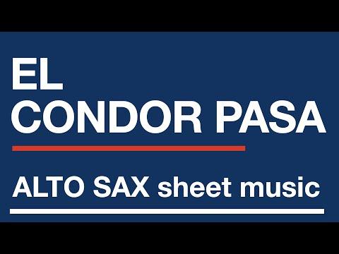 El Condor Pasa - Easy alto saxophone sheet music score