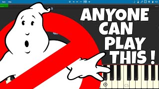 Ghostbusters Theme EASY Piano Tutorial - Ray Parker Jr