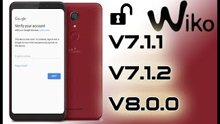 Bypass FRP Google account for Wiko Sunny (Android 6) - VERY
