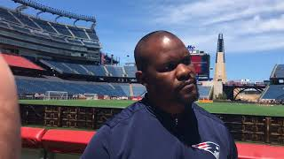 Patriots LBs Coach Brian Flores Discusses New Responsibilities On Coaching Staff