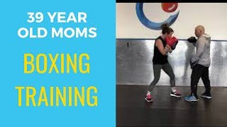 39 Year Old Moms Boxing Training For First Fight: Quick Leg Workout, Boxing Lesson: Upper Cut