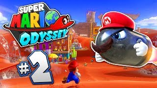 SUPER MARIO ODYSSEY Part 2 - World 2 Gameplay - THE FROZEN DESERT!