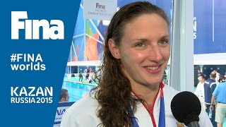 Katinka Hosszu: winner of women's 200m Individual Medley (WR) in Kazan (RUS)