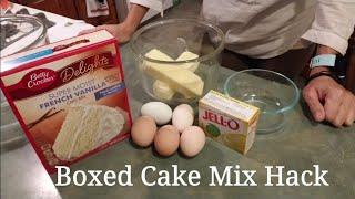 ~Boxed Cake Mix Hack~ better than bakery cake