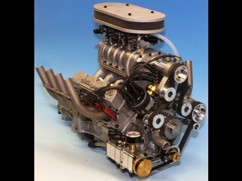 1 4 Scale Running Model Offenhauser Offy Engine By Ron Colonna Musica Movil