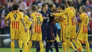 Barcelona vs. Atletico Madrid (Fights, Fouls, Red Cards)