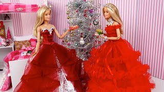 Barbie Twins Holiday  Morning Routine - Opening Christmas Presents
