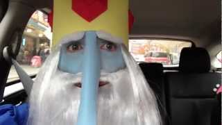 Ice King from Adventure Time Rides A Car Through Seattle