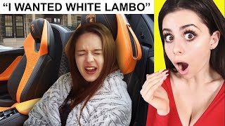SPOILED GIRL hates her new Lambo