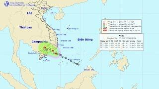 Tin Thời Tiết 5/11/2016: Tin áp thấp nhiệt đới gần bờ