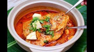 fish head curry recipe   Fish Curry with Tamarind gravy   Meen puli kuzhambu in Tamil