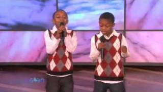 10-Year-Old Twins Sing for Ellen