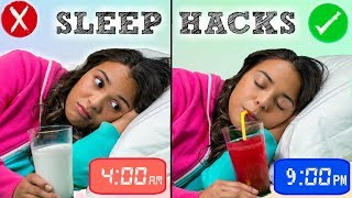 How to Fall Asleep FAST When You CAN'T Sleep! 10 Sleep Life Hacks!