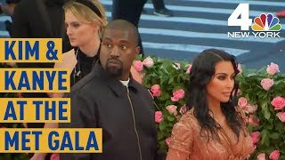 Met Gala 2019: Kim Kardashian, Kanye West Arrive on the Pink Carpet