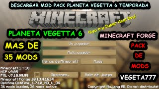 Descargar Modpack Planeta Vegetta 6 Temporada | Descargar Pack De Mods Planeta Vegetta 6 Temporada
