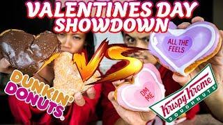 Krispy Kreme VS Dunkin' Donuts: Valentine's Day Donuts Taste Test